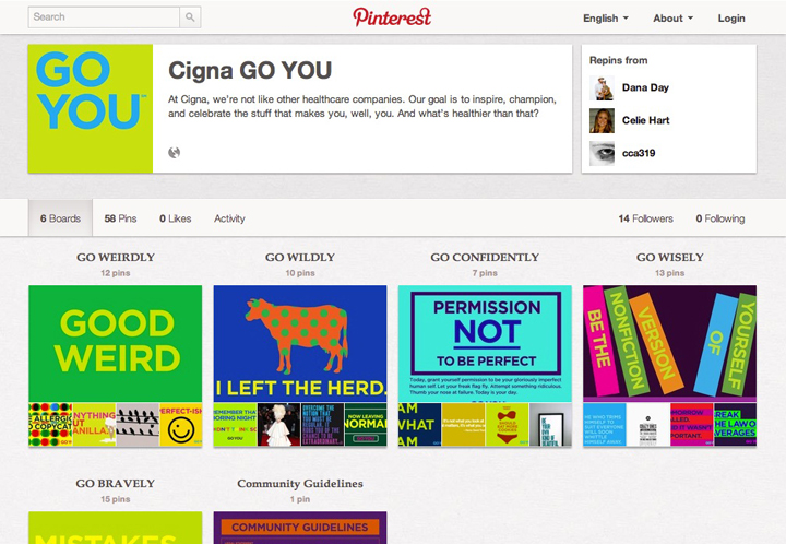 GO YOU Pinterest page