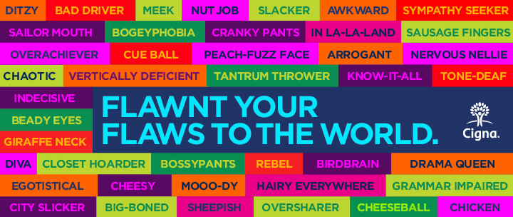 Love your flaws. FLAWNT them to the world with this app on Facebook.