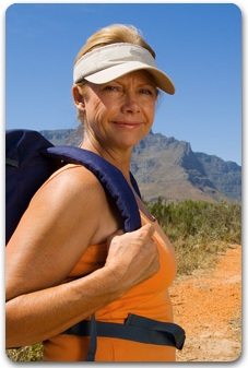 Woman hicking in the desert- You are on a Medicare Select Plus Rx page